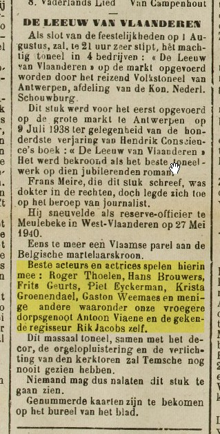 Piet Eyckerman, in Gazet van Temsche van 25-07-1948