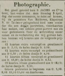 Den denderbode, 1889.