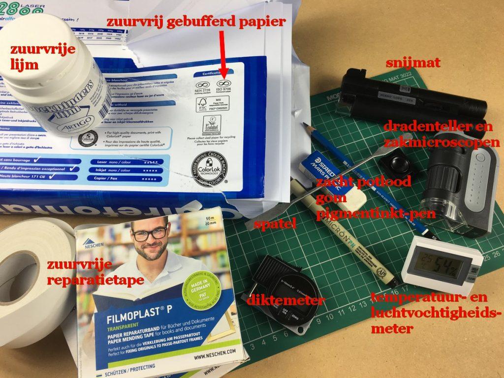 materialen en gereedschap